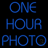 Blue One Hour Photo LED Neon Sign