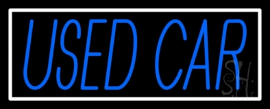 Blue Used Car Block 1 LED Neon Sign