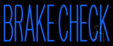 Brake Check LED Neon Sign
