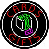 Cards And Gifts Block Logo LED Neon Sign