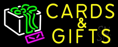 Cards And Gifts Block LED Neon Sign