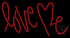 Red Love Me LED Neon Sign