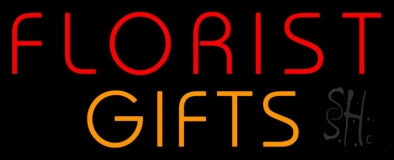 Florists Orange Gifts Neon Sign