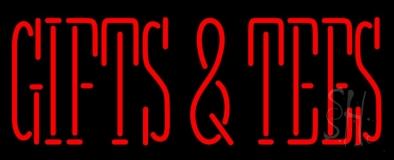 Gifts And Tees Red LED Neon Sign