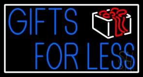 Gifts For Less With Logo LED Neon Sign