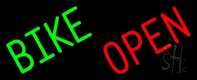 Green Bike Open LED Neon Sign