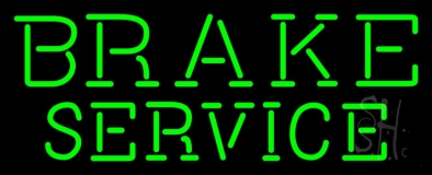 Green Brake Service LED Neon Sign