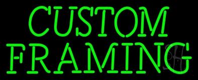 Green Custom Framing LED Neon Sign