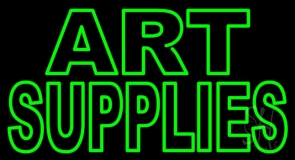 Green Double Stroke Art Supplies LED Neon Sign