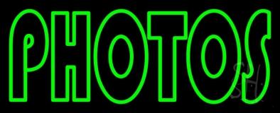 Green Double Stroke Photos LED Neon Sign