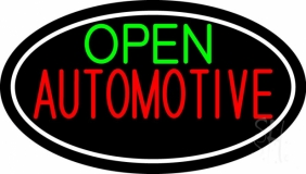 Green Open Automotive LED Neon Sign