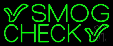 Green Smog Check LED Neon Sign