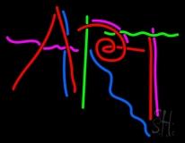 Multicolored Art LED Neon Sign
