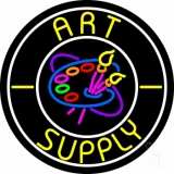 Circle Art Supply With Logo LED Neon Sign