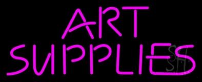 Pink Art Supplies Block LED Neon Sign
