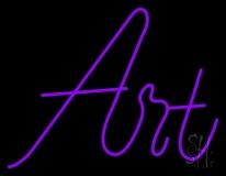 Purple Art In Cursive LED Neon Sign