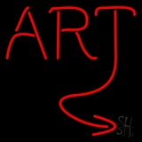 Red Art LED Neon Sign