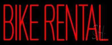 Red Bike Rental LED Neon Sign