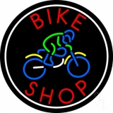 Red Bike Shop With Logo LED Neon Sign