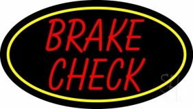 Red Brake Check LED Neon Sign