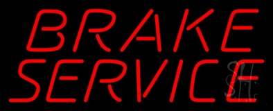 Red Brake Service LED Neon Sign