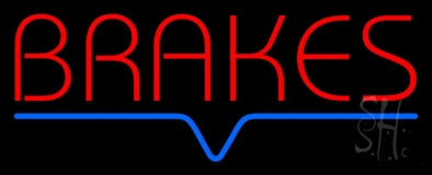 Red Brakes LED Neon Sign