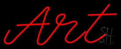 Red Cursive Art 1 Neon Sign