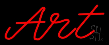 Red Cursive Art 2 Neon Sign
