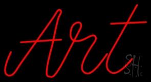 Red Cursive Art LED Neon Sign
