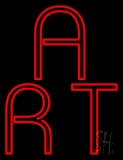 Red Double Stroke Art LED Neon Sign