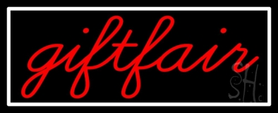 Red Gift Fair LED Neon Sign