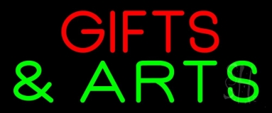 Gifts And Arts Block Neon Sign