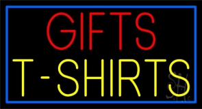 Gifts Tshirts With Blue Border LED Neon Sign