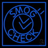 Smog Check Circle LED Neon Sign