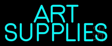 Turquoise Art Supplies 1 Neon Sign