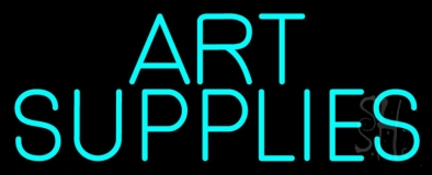 Turquoise Art Supplies LED Neon Sign