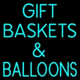 Turquoise Gift Baskets Balloons LED Neon Sign