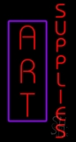 Vertical Red Art Supplies LED Neon Sign