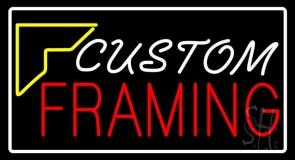 White Custom Red Framing LED Neon Sign