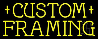 Yellow Custom Framing LED Neon Sign
