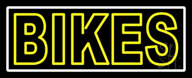 Yellow Double Stroke Bikes LED Neon Sign