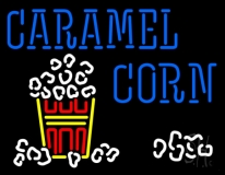 Blue Caramel Corn With Logo LED Neon Sign