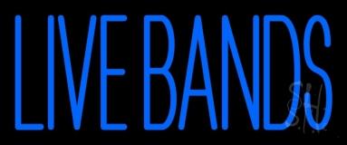 Blue Live Bands 2 LED Neon Sign