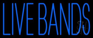 Blue Live Bands LED Neon Sign