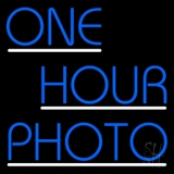 Blue One Hour Photo With Line LED Neon Sign