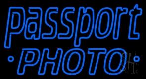 Blue Passport LED Neon Sign