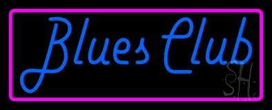 Blues Club Pink Border LED Neon Sign