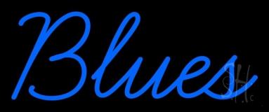 Blues Cursive 1 LED Neon Sign
