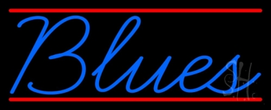 Blues Cursive 2 LED Neon Sign