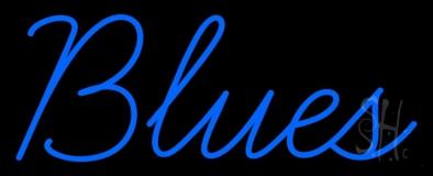 Blues Cursive Neon Sign
